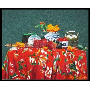 (油画类)苏绣风格刺绣工艺画-静物
