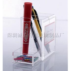 沙井有机玻璃笔架 沙井亚克力笔筒 水晶笔架