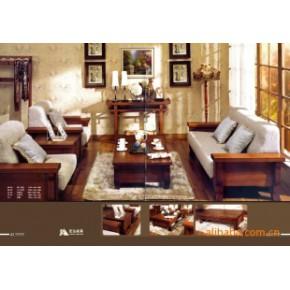 沙发组合系列-深色田园风