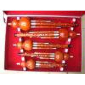 全红檀木套装葫芦丝 铝合金包边盒子