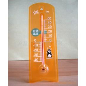 玻璃棒心G963橙/兰室内外温度计