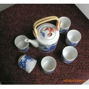【45元特卖】7头青花茶具--精美真正的景德镇瓷器