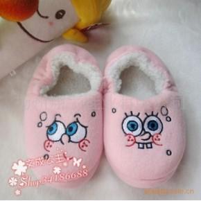 2010新款 海绵宝宝绣花 童棉鞋 男女童鞋