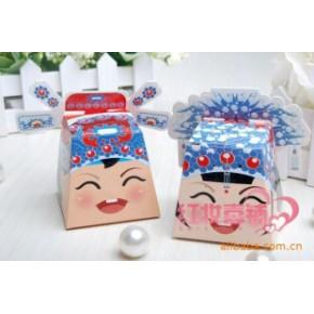 批发新款个性喜糖盒/相公娘子娃娃头喜糖盒-浪漫喜事