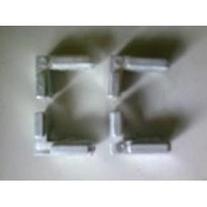 提供专业锌合金压铸加工 型材紧固件 槽内直角件