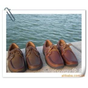 爱步皮鞋 男士休闲 商务 头层牛皮 系带