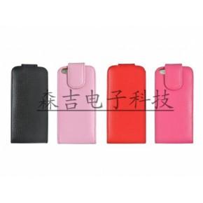 苹果iPhone5苹果4代5代真皮荔枝纹上下翻插卡手机保护套