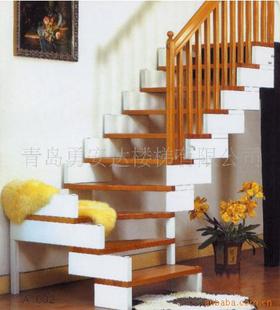 优质实木楼梯,室内楼梯.木制楼梯