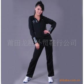 2010款女士运动休闲服 紫色 黑色批发 零售