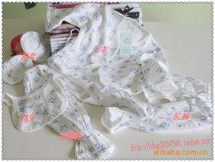 福安贝贝纯棉新生儿婴儿内衣五件套 必备品图片