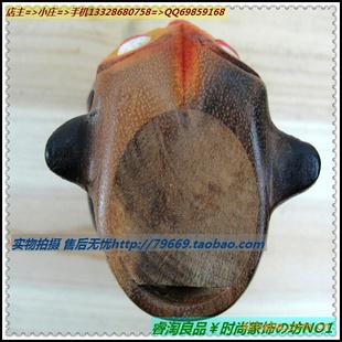 泰国半彩5号猫头鹰 木雕工艺品