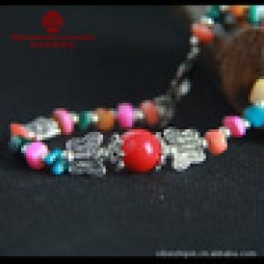 西北民族饰品 西藏首饰品批发 民族风藏银贝壳手链 女手链SL-B042