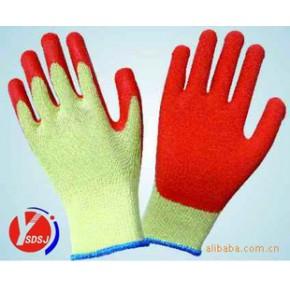 10针淡黄纱浸乳胶起皱手套