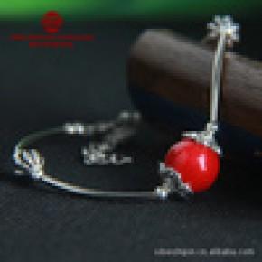 厂家直销 原创手工民族饰品批发 民族风彩石手链SL-B037