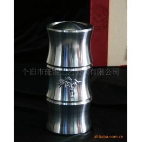 【优质】云南特色商务礼品 中国斑锡竹节茶筒