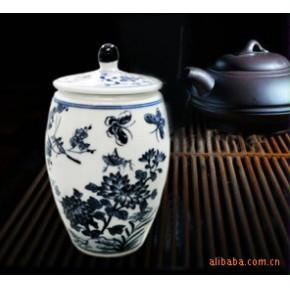 【传统青花】30件重工仿古青花茶叶罐