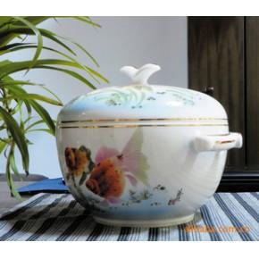 【文革瓷】景德镇名家余海龙创作金鱼饭鼓-老瓷器