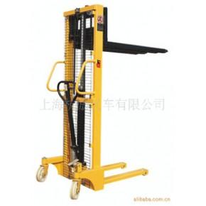 手动液压堆高机,U型压锻门架,含脚刹车