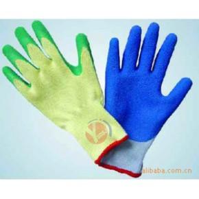 高品质五股纱浸胶起皱手套
