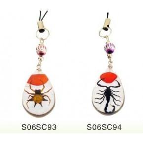 南宁昆虫琥珀手机链挂件饰品厂家 时尚小商品批发