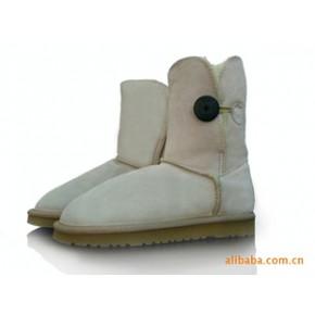 2010冬季新款5803 A+中筒单扣 牛皮雪地靴
