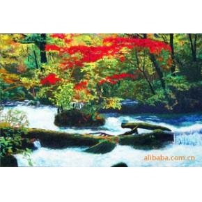 电脑绣花类工艺品(油画类)-林间溪流