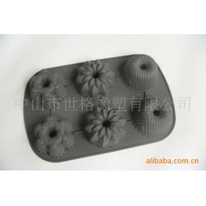硅胶厨具 6杯花朵形硅胶蛋糕模具