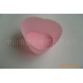 心型硅胶蛋糕杯 硅胶 广东中山