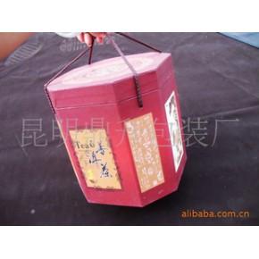 包装/普洱茶包装/花窗六边形普洱茶七子桶