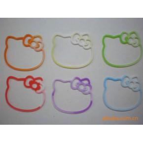凯蒂猫,连体字母,圣诞,动物等形状橡皮筋