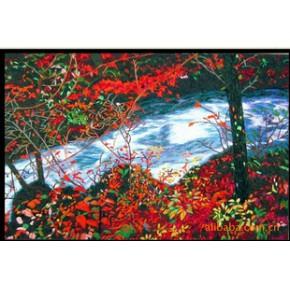 (电脑绣花类)浙江天翔工艺品(风景类)-红叶银河