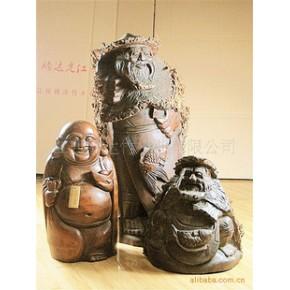 竹根雕 弥勒佛 如来 人物