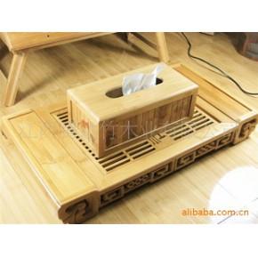 竹制纸巾盒 其他 方形