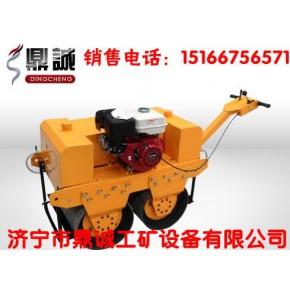 手扶双轮汽油振动压路机25B新品质新造型手扶振动汽油压路机