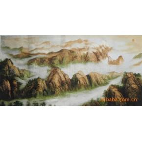 (电脑绣花类)浙江天翔工艺品(风景类)-泰山日出