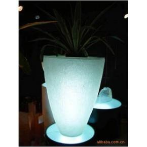 水晶树脂制锥形花器  酒店家居摆设装饰