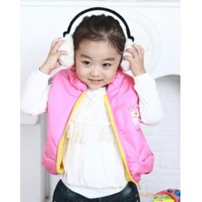 韩国韩版童装 女童棉马甲 出口韩国新冬装款