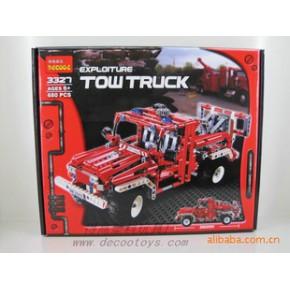 得高模玩 3327消防拯救车 680pcs自装玩具 乐高拼装玩具