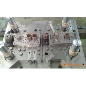 马达铁芯定转子自动叠铆级进模,模具加工