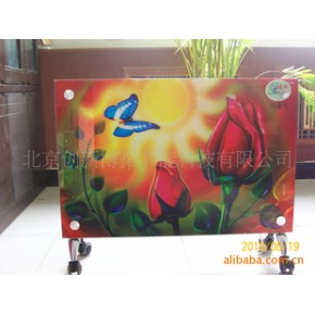 批发铜管铝翅片热管对流式钢化玻璃彩绘面板电暖器