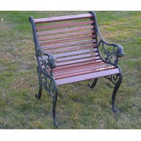 上海木纹装饰金属型材氟碳水印木纹铝园林椅01