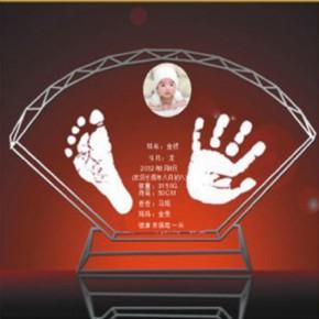 郑州婴儿纪念品,手足印脐带章胎发珍笔挂坠4件套298