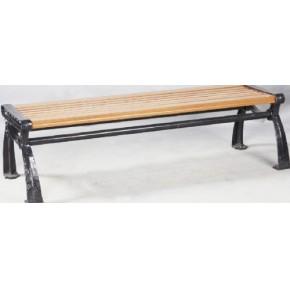 上海木纹装饰型材户外新型材料1500mm木纹铝合金园林椅4