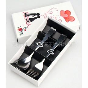 餐具套装,礼品餐具,情侣餐具,心形叉勺