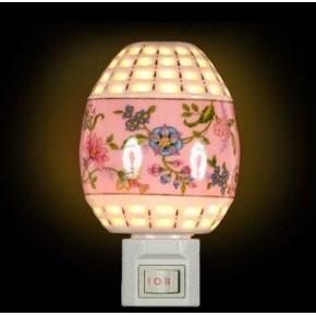 陶瓷香薰小夜灯.小夜灯.七彩LED陶瓷小夜灯