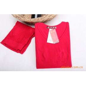 红豆保暖内衣/10383/莫代尔印花女套