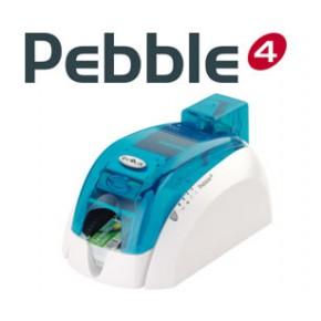 彩色工作证打印机塑料卡片打印机pebble4