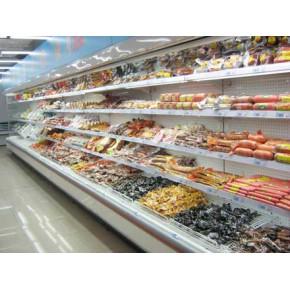 超市风幕柜,零点超市展示柜,莲花超市冷藏柜