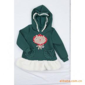 韩国进口童装舒适休闲连帽个性兜头巾猫咪童外套