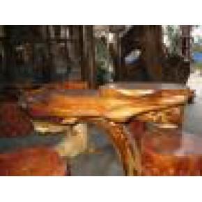 黑枝木(红木木雕)树根型 红木烟灰缸 红木烟缸